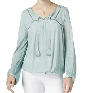 William Rast Long Sleeve Knit Top